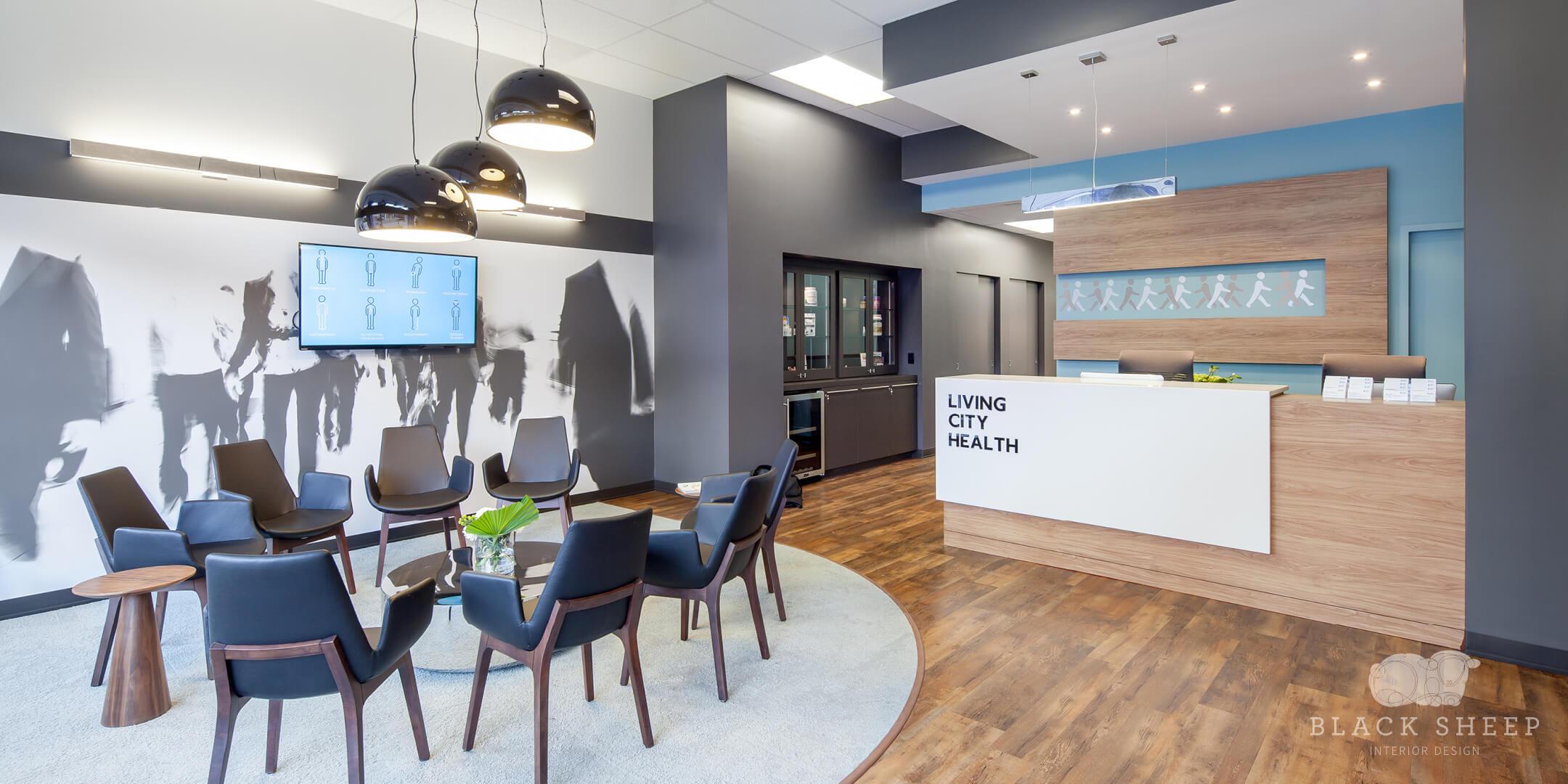 Black Sheep Interior Design - Living City Health 1