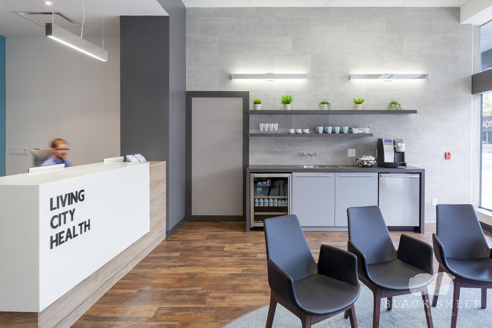 Black Sheep Interior Design - Living City Health 15