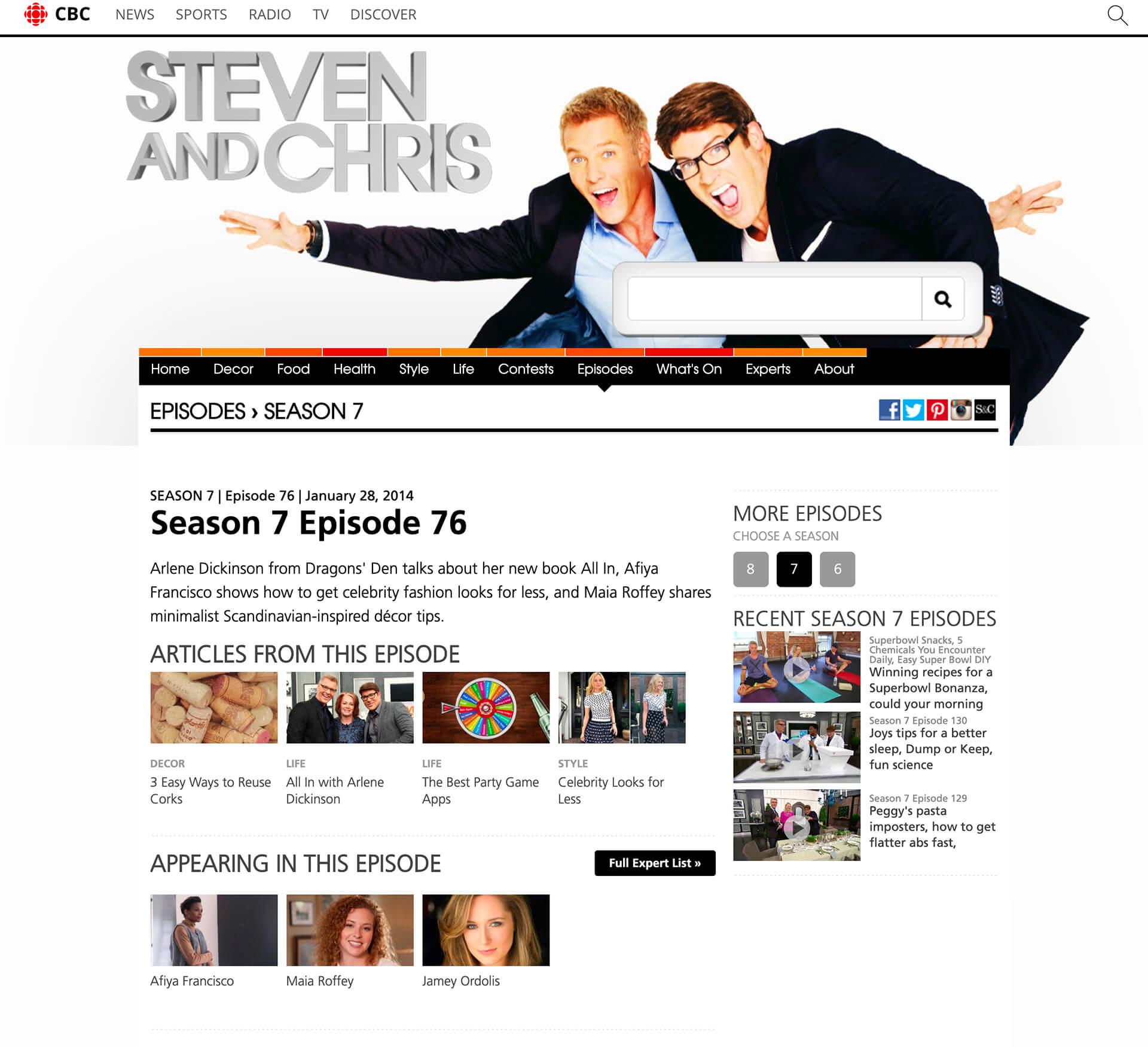 Steven and Chris, Season 7 Episode 75, January 28, 2014