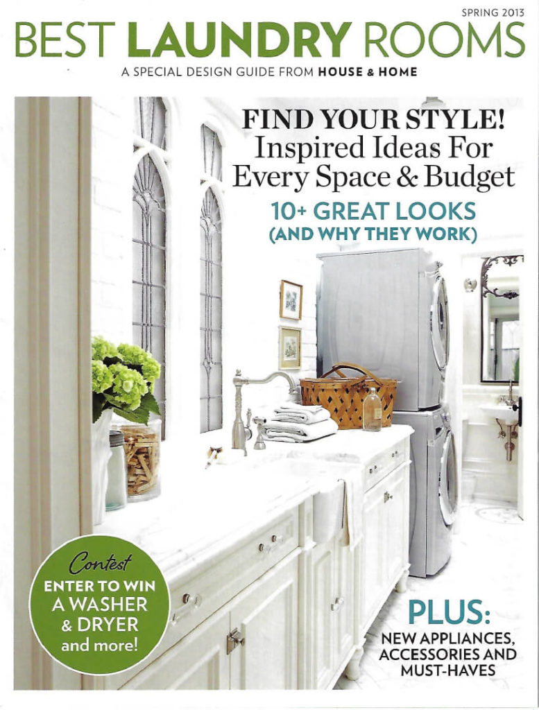 House & Home, Spring 2013, Laundry Guide cover